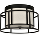 Hultonick Flynn for Crystorama Hulton 2 Light Matte Black Hulton Ceiling Mount