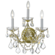 Crystorama 4403-GD-CL-MWP Maria Theresa Wall Sconce Draped in Hand Cut Crystal