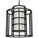 Hultonick Flynn for Crystorama Hulton 6 Light Matte Black Chandelier