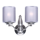 Lucid 2-Light Wall Sconce in Satin Nickel