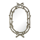 Mirror - Brampton-Silver Leaf Wrapped Branch Mirror - Mirror and Pu and Mdf