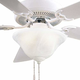 Minka Aire GF548 Ceiling Fan Glass Replacement (Etched Swirl Glass) For Minka Aire Contractor Unipack Ceiling Fan Models: F548-WH /BS /ORB / SWH / F637-WHF / F648-ORB / SWH / WH / BS / and Light Kit K9548