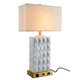 Clearance Item - Belmont Collection Table Lamp H26.5in D5.75in Lt:1 Silver Finish Glass and Metal