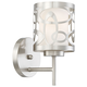 Links 1 Light Wall Sconce in Brushed Nickel
