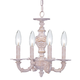 Crystorama 5124-AW Sutton Collection Wrought Iron Convertible Mini Chandelier