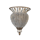 Crystorama 6721-WP Roosevelt Wall Sconce Draped with Clear Crystal Beads