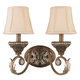 Crystorama 6722-WP Roosevelt Wrought Iron Wall Sconce