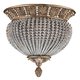 Crystorama 6723-WP Roosevelt Semi Flush Draped with Clear Crystal Beads