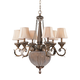 Crystorama 6726-WP Roosevelt Chandelier Draped with Clear Crystal Beads