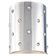 George Kovacs P037-077 Wall Sconce in Chrome finish with Perforated Steel w/Crystals