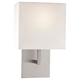 George Kovacs P470-084 Wall Sconce in Brushed Nickel finish with White Fabric
