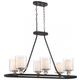 Studio 5 Fixture In Painted Bronze With Natural Brushed Brass