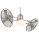 Minka Aire Gyro Outdoor in Brushed Nickel Wet