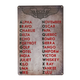 International Phonetic Alphabet Metal Sign