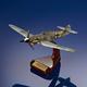 Gunther Rall Bf-109G Black 13 Mahogany Model