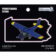 Pennsylvania State with Airplane Sticker