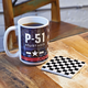 P-51 Mustang Coffee Mug and Coaster Set
