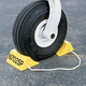 Personalized Aluminum Wheel Chocks - Safety Yellow (pair)