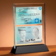 Desktop Glass Plaque (double-sided)