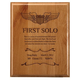 First Solo Commemorative Wooden Plaque