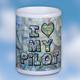 Custom U.S. Aeronautical I Love My Pilot Chart Mug