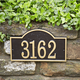 Arch House Numbers Plaque