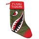 Flying Tigers Plush Velvet Christmas Stocking