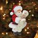Santa with North Pole VOR Christmas Ornament