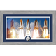 Framed NASA Space Shuttle Panoramic Print with Silver Collectors Coin