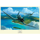 """Pappy Boyington """"Come Up and Fight"""" Artist Signed Print"""