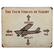 Four Forces of Flight Sign