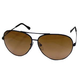 Serengeti Large Aviator Sunglasses (62mm - black frames - Drivers Gradient lens)