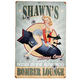 Personalized Bomber Lounge Sign