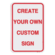 Custom Airport Signs (White - 12 in. x 18 in. )