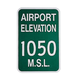 Airport Elevation Sign