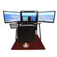 Redbird Flight Simulator Horizon Side Monitors