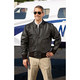 Modern Leather Flight Jacket