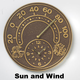 Outdoor Thermometer Clock