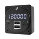 MD93 Digital Clock w/dual USB Charger