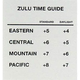 Zulu Time Guide for Contiguous U.S. (2 in. x 2 1/8 in.)