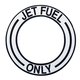 Jet Fuel Decal (Black - 4 1/2 in. dia. Center)
