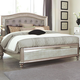 Coaster Furniture Bling Game Queen Button Tufted Bed in Platinum Metallic 204181Q