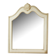 American Woodcrafters Chateau Collection Landscape Mirror in White Antique 3501-040