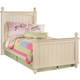 Cottage Retreat Twin Poster Bed in Cream