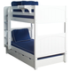 Maxtrix Bare Bone Twin Size Medium Bunk (2 Low/2 High) Panel Bed with Straight Ladder in White GET ITWP