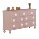 Acme Floresville 7-Drawer Dresser in Pink 00741