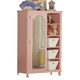 Acme Floresville Mirror Door Chest in Pink with White Baskets 00742