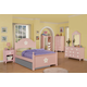 Acme Floresville Arched Panel Bedroom Set in Pink