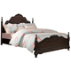 Homelegance Cinderella Queen Poster Bed in Dark Cherry 1386NC-1