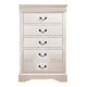 ACME Louis Philippe III 5-Drawer Chest  in Cream 22506